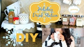 Download DIY Holiday Coffee Bar Tea & Hot Cocoa Drink Station - MissLizHeart Video