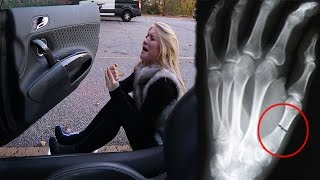Download SHE FELL OUT OF MY CAR AND BROKE HER THUMB! Video