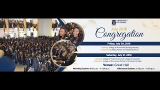 Download UG July 2018 Congregation : Friday 20th July - Morning Session Video