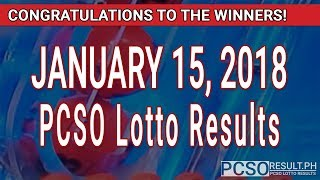 Download PCSO Lotto Results Today January 15, 2018 (6/55, 6/45, 4D, Swertres, STL & EZ2) Video