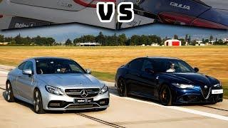 Download Mercedes - AMG C63S Coupe vs. Alfa Romeo Giulia QV | Drag & Rolling Yarışı ! (English Subtitled) Video