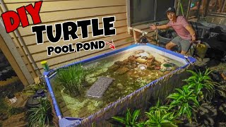 Download Upgrading My Backyard TURTLE Pool Pond!!! Video
