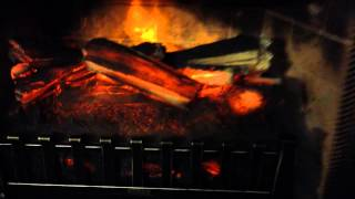 Download Electric fireplace insert with heater w/ remote. Duraflame, like the logs. Video