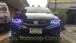Download City concept robocop bi-xenon projector lens Video