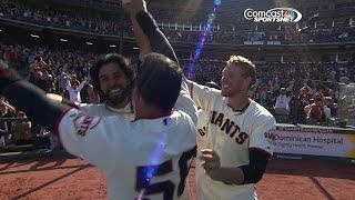 Download Pagan delivers walk-off inside-the-park homer Video