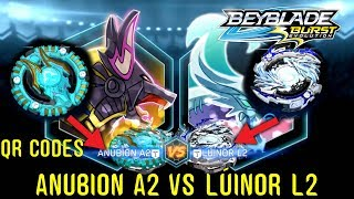 Download QR CODES ATLAS ANUBION A2 VS LOST LÚINOR L2 UNLOCKED BEYBLADE BURST +APP GAMEPLAY EXCLUSIVE RECOLORS Video