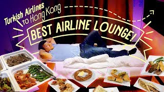 Download BEST AIRLINE LOUNGE! Turkish Airline Business Class Food Review | PRIVATE SUITE Video