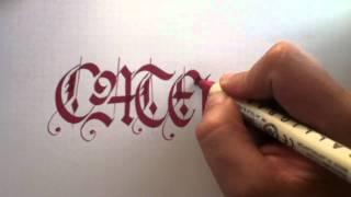 Download Caligrafia el caligrafo - gótica Video