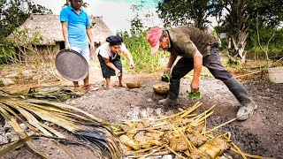 Download Ancient MAYAN FOOD - Jungle Cooking in MAYA VILLAGE in Quintana Roo, Mexico! Video