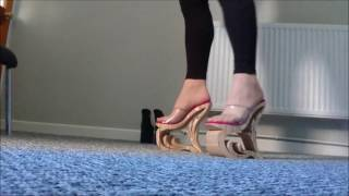 Download walking in extreme high heels part2 Video