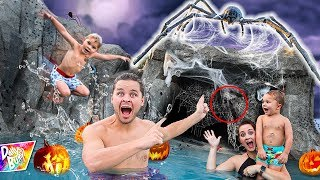Download EXPLORING OUR HAUNTED SWIMMING POOL 🕷🎃👻 (Monster Caught On Camera!) Video