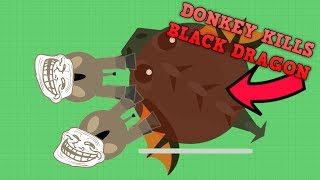Download MOPE.IO FUNNIEST DONKEY TROLL! Mope.io Donkey Killing Black Dragon (Mope.io New Funny Trolling) Video