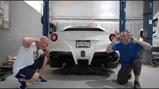 Download We FINALLY Made The F12 LOUDER! (Ferrari Exhaust Valve DELETE) Video