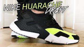 Download Nike Air Huarache Run Drift Black / Volt - Unboxing, On Feet, & Overview Video