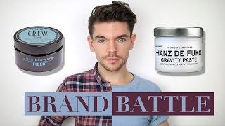 Download Hanz de Fuko Gravity Paste vs. American Crew Fibre | Brand Battle Video