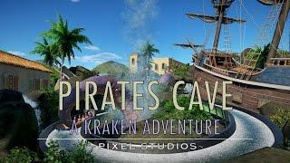 Download Pirates Cave, A Kraken Adventure - Planet Coaster [log flume / dark ride] Video