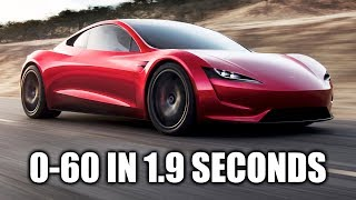 Download How The Tesla Roadster Hits 60 MPH In 1.9 Seconds! Video