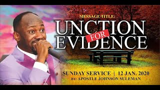 Download ″UNCTION FOR EVIDENCE″ BY APOSTLE JOHNSON SULEMAN// 2ND SERVICE, SUN 12 JAN. 2020. Video