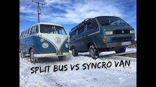 Download Split Window VW Bus vs. Volkswagen Vanagon Syncro Frozen Ramp. Video