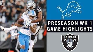 Download Lions vs. Raiders Highlights | NFL 2018 Preseason Week 1 Video