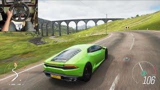 Download Lamborghini Huracan - Forza Horizon 4 | Logitech g29 gameplay Video