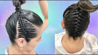 Download Trenzas laterales en doble pasa cinta y trenza normal trasera/trenza cabello corto Video