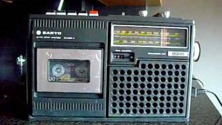 Download Sanyo M2420 Radio Cassette Boombox 70's Video