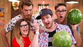 Download 🍉 Watermelon Carving Challenge ft.Rhett and Link Video