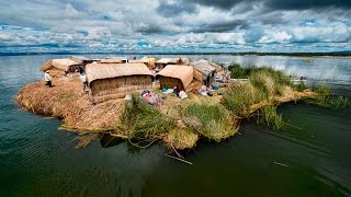 Download The Mysterious Floating Islands Of Lake Titicaca In Peru Video
