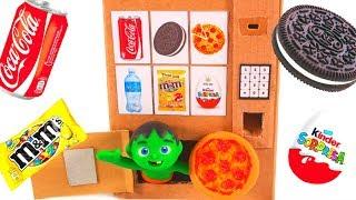 Download KIDS BUILD A PIZZA VENDING MACHINE ❤ SUPERHERO PLAY DOH CARTOONS FOR KIDS Video