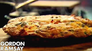 Download Bacon, Pea & Goat's Cheese Frittata - Gordon Ramsay Video