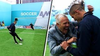 Download Conor Coady vs Jason Byrne | Penalties, volleys, free kicks & crossbar challenge | Soccer AM Pro Am Video