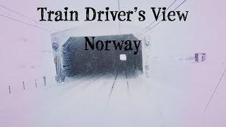 Download Train Driver's View: Bad weather Christmas Day Run on the Bergen Line Video