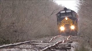 Download Blasting down bad track Doubleheader on the ND&W Railway (Maumee and Western) Video