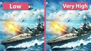 Download World of Warships Beta – Low vs. Very High Graphics Comparison [60fps][FullHD] Video