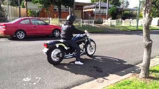 Download V star XVS650 with vance and hines short shots Video