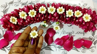 Download Version- 2 🌹 Petals with Jasmine Jadai venni making Video