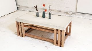 Download HomeMade Modern, Episode 15 - DIY Concrete + Wood Coffee Table Video