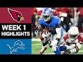 Download Cardinals vs. Lions | NFL Week 1 Game Highlights Video