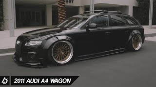 Download Bagged Audi A4 Wagon on DPE wheels Video