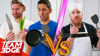 Download Amateurs vs One-Handed Chef! | Can They Beat a Pro?? Video
