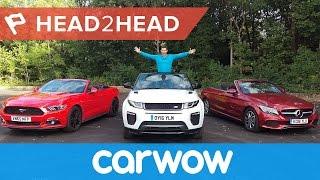 Download Range Rover Evoque Convertible vs Mercedes C-Class Cabriolet vs Ford Mustang Convertible   Head2Head Video
