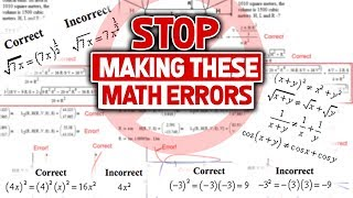Download Dear High School (and College) Students, STOP Making These Math Errors Video