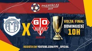 Download Monte Azul 0 x 2 Audax - Final - Paulistão A3 2019 Video