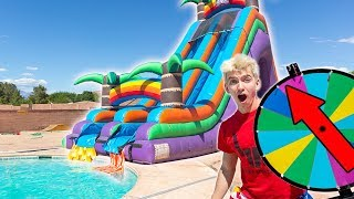 Download WORLDS BIGGEST INFLATABLE WATER SLIDE!! Video