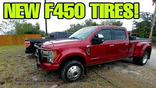 Download BIG FORD F450 Get new tires! Evaluating Continental HD3 Tires! Video
