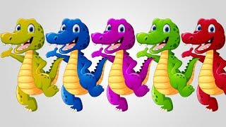 Download Colors Learn Crocodile Finger Family Song Video