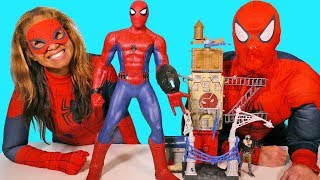 Download Giant Super Sense Spider Man & Vulture Attack Playset ! || Toy Review || Konas2002 Video