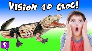 Download CROCODILE 4D! HobbyPig Builds a Crocodile Guts n'Bones + Animal Planet Surprise HobbyKidsTV Video