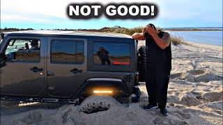 Download Forcing My $90,000 Jeep Wrangler To Get Stuck In The Sand - Got Carried Away! Video